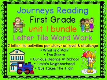 Journeys First Grade Reading Unit 1 Bundle of Letter Tiles