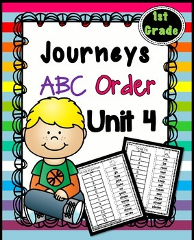 Journeys  First Grade Reading Unit 4 ~ ABC Order Cut and Paste