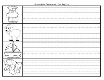 The Big Trip Scrambled Sentences Journeys First Grade Reading Unit 4 Lesson 17
