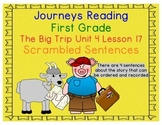 The Big Trip Scrambled Sentences Journeys First Grade Read