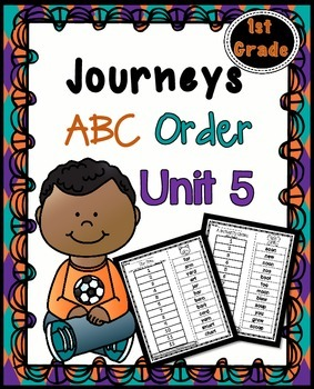 First Grade Reading Unit 5 ~ ABC Order Cut and Paste