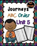 Journeys First Grade Reading Unit 5 ~ ABC Order Cut and Paste