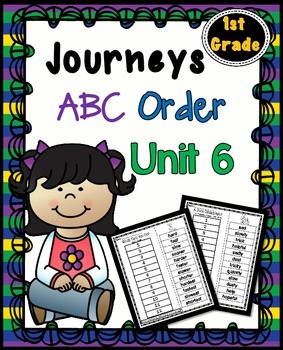 Journeys  First Grade Reading Unit 6 ~ ABC Order Cut and Paste