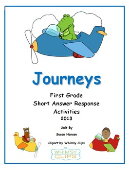 Journeys First Grade Short Answer Response Activities 2013 Edition