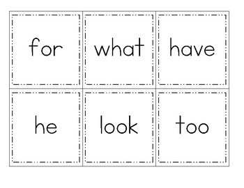 Journeys First Grade Sight Word Cards