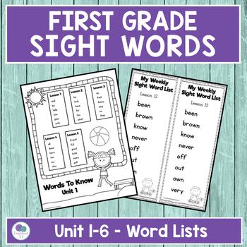 First Grade Sight Words BUNDLE