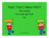 Journey's First Grade Sight Words: Read It, Trace It, Rainbow Write It (Unit 1)