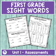 Journeys First Grade Sight Words Unit 1 Lists and Assessments