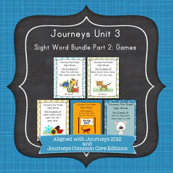 Journeys First Grade Sight Words Unit 3 Bundle Part 2: Gam