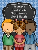 Journeys First Grade Sight Words Unit 6 Bundle 2012 Edition