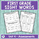 Journeys First Grade Sight Words Unit 4 Lists and Assessments