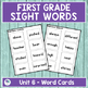 Journeys First Grade Sight Words Unit 6 Lists and Assessments