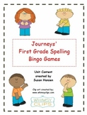 Journeys First Grade Spelling Bingo games