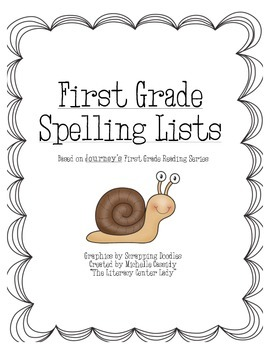 Journey's First Grade Spelling Lists for the Year
