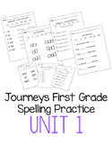 Journeys First Grade Spelling Practice - Unit 1