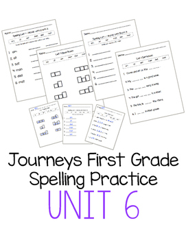 Journeys First Grade Spelling Practice - Unit 6