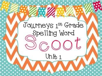Journeys First Grade Spelling Scoot *Unit 1*