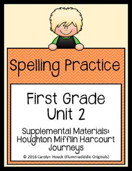 Journeys First Grade Spelling Supplement Unit 2
