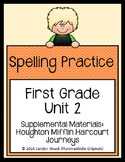 First Grade Spelling Supplement Unit 2  for use with Journeys