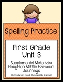 First Grade Spelling Supplement Unit 3 for use with Journeys