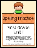 First Grade Spelling Supplement Units 1-6 BUNDLE for use with Journeys