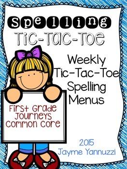 Spelling Tic Tac Toe Menu {Journeys First Grade Edition}