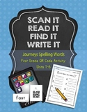 Journeys First Grade Spelling Words QR Code Bundle: Units 1-6