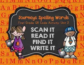 Journeys First Grade Spelling Words QR Codes Unit 2