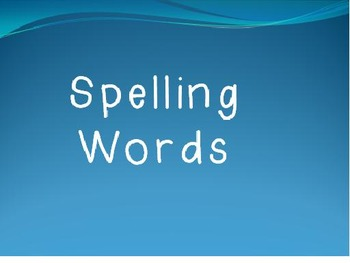 Journeys First Grade Spelling Words and Words to Know timed Powerpoint Lesson 17