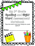 Journeys First Grade Spelling and Sight Word Assessment Data Notebook