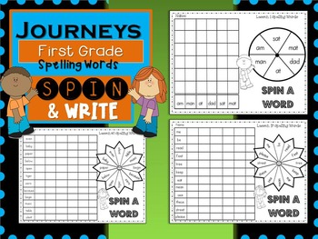 Journeys First Grade Spin and Write (Spelling Words)