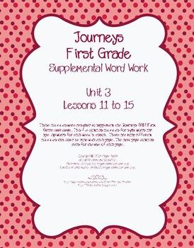 Journeys First Grade Supplemental Word Work Unit 3