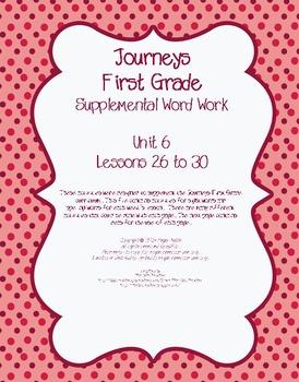 Journeys First Grade Supplemental Word Work Unit 6