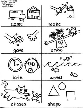 Journeys First Grade: The Big Race: Unit 3/Lesson 14 long /a/ word families
