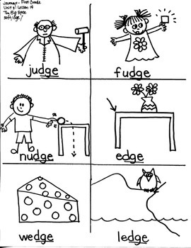 Journeys First Grade: The Big Race: Unit 3/Lesson 14 soft /c/g/dge word families