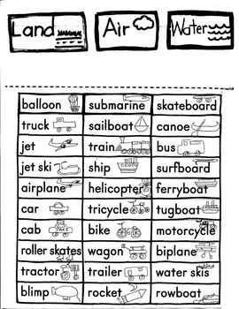 Journeys First Grade: The Big Trip: Unit 4/Lesson 17 Transportation/Assessment