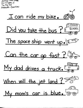 Journeys First Grade: The Big Trip: Unit 4/Lesson 17 /nk/ng/-Statement/Question