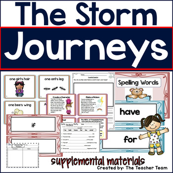 The Storm Journeys 1st Grade Unit 1 Lesson 2 Activities and Printables