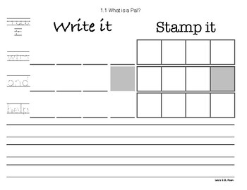 Journeys First Grade Trace/Write/Stamp Sampler