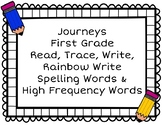 Journeys First Grade Trace, Write, and Rainbow Write Words