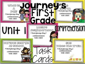 Journey's First Grade Unit 1 (5 Stories) Bundle Comprehens