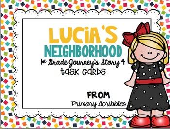 Journey's First Grade Unit 1 (5 Stories) Bundle Phonics and Vocab Task Cards