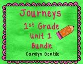 Journeys First Grade Unit 1 Bundle 2012,2014, 2017