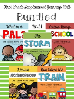 Journeys First Grade Unit 1 Bundled