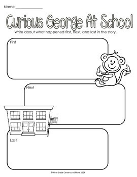 Curious George at School {aligned with Journeys First Grade Unit 1 Lesson 3}