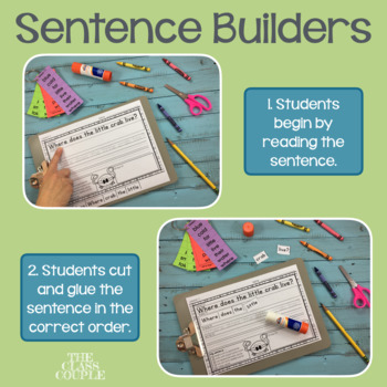 Journeys First Grade Unit 1 Lessons 1-5 Sentence Builders