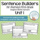 Journeys First Grade Unit 1 Lessons 1-5 Sentence Builders