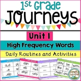 Journeys First Grade Unit 1 Sight Word Activities