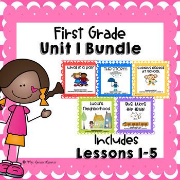 First Grade Unit 1 Supplemental Units Bundle
