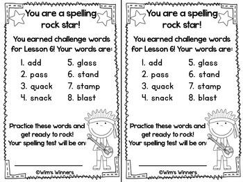 Journeys First Grade Challenge Spelling Words: Unit 2